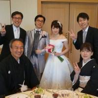 長男の結婚式
