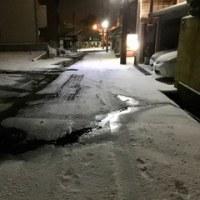 今朝の金沢。積雪は、それほどでもありません。