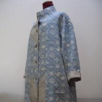 紬と白大島スプリングコート