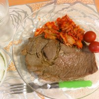 朝からステーキ…食べちゃった…。