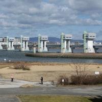 波立つ淀川