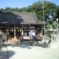 『河内史跡巡り』許摩神社・JR関西線は久宝寺駅北400M延喜式には小社に列せられる由緒ある神社である。
