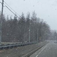 今日も向かっている最中に吹雪…。