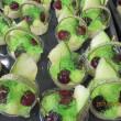 今日のケーキ・・・メロンのパニエと水羊羹