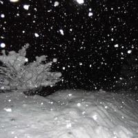 平成29年1月24日・夜明け前の東祖谷・・・積雪70cm以上