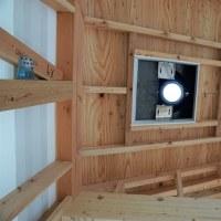 Youの自由な家!プロジェクト 『 岬町押日 Aさんの家 』。⌂Made in 外房の家。薪ストーブの煙突設置完了!です。