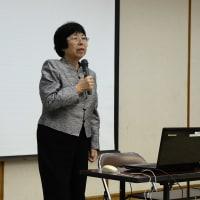教委・ウグイス大学10月度講座は、森山まりこ日本熊森協会長の講演。