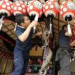 会津田島祇園祭西屋台の運行準備