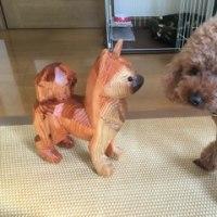 木彫りの犬