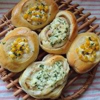ハムロール&コーンマヨネーズパン