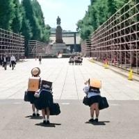 謹賀新年、靖国に祈る日本の乙女