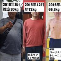 10/27比較写真有り朝パーソナルSS木さん(50代男性)