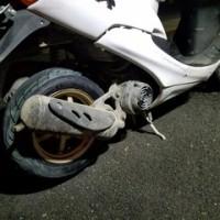 原付スクーターの出張タイヤ交換に行ってきました