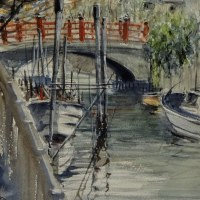 「 佃島の運河 2 」
