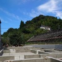 倉敷市玉島勇崎で基礎工事完了