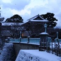金沢市雪の朝 兼六園・金沢城