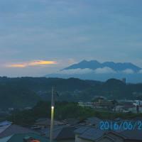 06月26日、朝の桜島