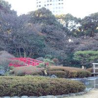 傷防止シートと日本庭園