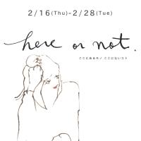 here or not . ここにあるモノ ここにないコト  ハラダエリコ展 2/16-2/28