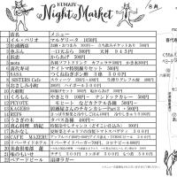 今年最後の沼津ナイトマーケット、店舗マップ。