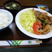 フジヤドライブインの『生姜焼き定食』@水戸市