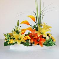 百合(ユリ)のアーティフィシャルフラワーアレンジ