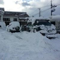 雪に埋もれる!