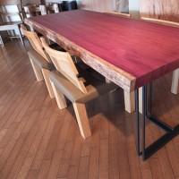 【家族が集まる】お勧め一枚板テーブル&チェアー、無垢材のダイニングテーブル&チェアー。一枚板と木の家具の専門店エムズファニチャーです。