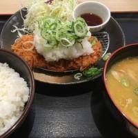 おろしロースカツ定食with 豚汁@Kつ乃家