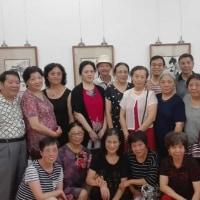 上海の個展会場にて