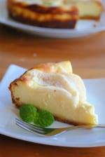自家製フルーツブランデーで作る 梨のチーズケーキ ☆