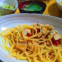 鱈とエリンギのトマトスパ
