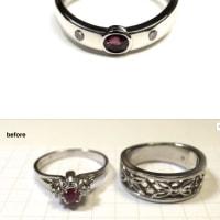 ルビーの指輪をリフォームしました。