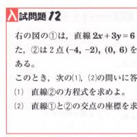 中学数学・1次関数・2次関数 12 新潟県・宮城県・高校入試問題