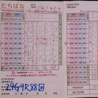 今日のゴルフ挑戦記(89)/新千葉CC「たちばな」アウト→イン(ベント)