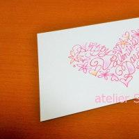 バレンタインカード販売しています。