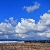 今日の皆生海岸(エメラルドグリーン)