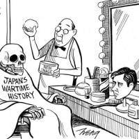 NYT風刺画:変身師・安倍晋三 現在、「戦前・戦中・戦後史」改編中