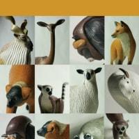 COOL氏の人形 「ANIMALS」シリーズのスタンダードサイズも出品いたします。