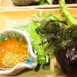 じゃがいものビシソワー海ブドウのサラダをニンジンドレッシング、ズです(^^)v