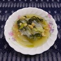 岩津ねぎ、大豆コンソメ煮