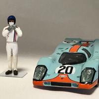 1/43 栄光のル・マン ポルシェ917K #20用フィギュア Custom figure for Porsche917K #20
