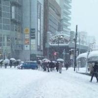 雪中、長蛇の列