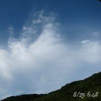 今日のそら ・・・ 8/25 (火)