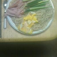 昨日は「冷やし中華」を食べました!!。
