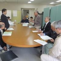 県民会議の沖縄県交渉に参加。知事、防衛局に対して汚濁防止膜・コンクリートブロックの設置作業の中止を指示!