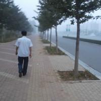 中国遼寧省 葫芦島市内での早朝散歩1