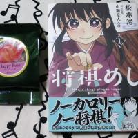 漫画・将棋めしと中野バラ祭りの菓子