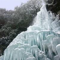 組合員が撮影された御船の滝の氷瀑