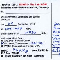 DSWCI The Last AGM特別放送 ベリカード